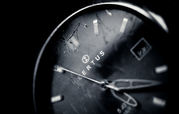 Picture glass, macro, time, cracked, photo, background, Wallpaper, arrows, white, watch, black, wallpapers