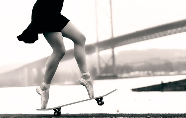 Picture legs, ballerina, skate, Pointe shoes