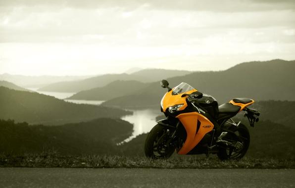 Picture the sky, yellow, honda, Honda, yellow, cbr1000rr, mozil