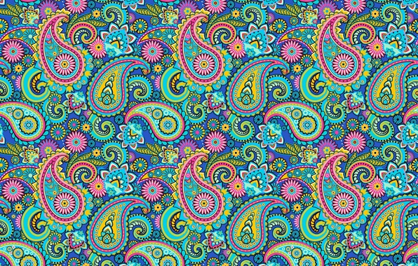 Picture pattern, Paisley, Indian cucumbers