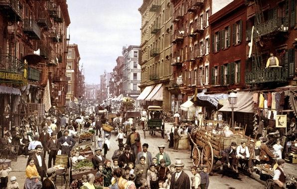 Picture Italy, new, York, Manhattan, Manhattan, street, new, little, Mulberry, york