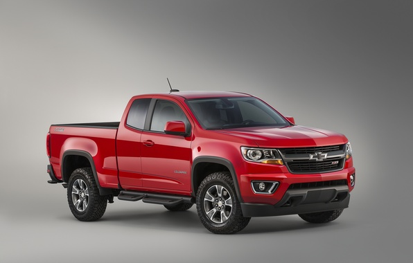 Picture red, Chevrolet, jeep, Chevrolet, Colorado, pickup, Colorado, Z71, Extended Cab, 2015, Trail Boss