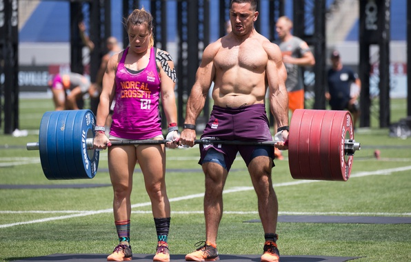 wallpaper woman man weight lifting crossfit games images for