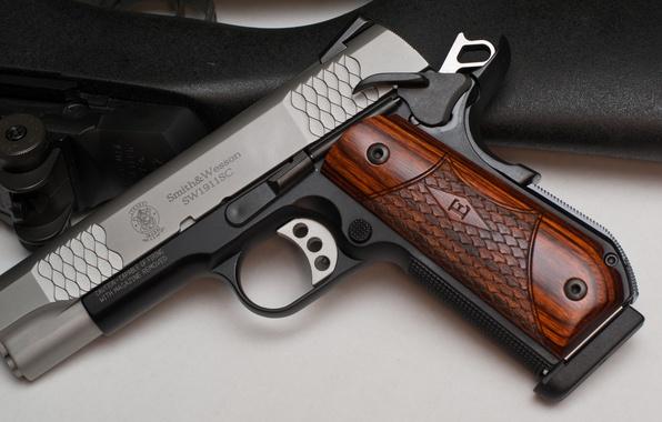 Photo wallpaper weapons, Smith & Wesson, SW1911SC, E-Series, gun