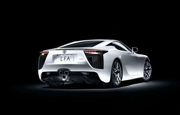 Picture Lexus, White, LFA, Sports car