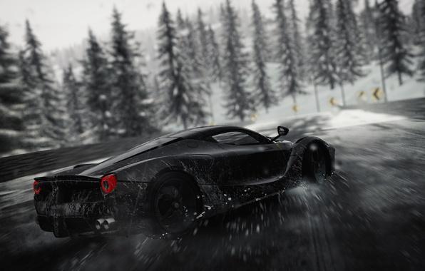 Picture car, Ferrari, logo, drift, game, supercar, blizzard, snow, race, speed, horse, asphalt, The Crew, stallion, …