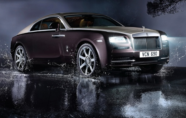 Picture auto, light, lights, Rolls-Royce, luxury, rolls-Royce, Wraith