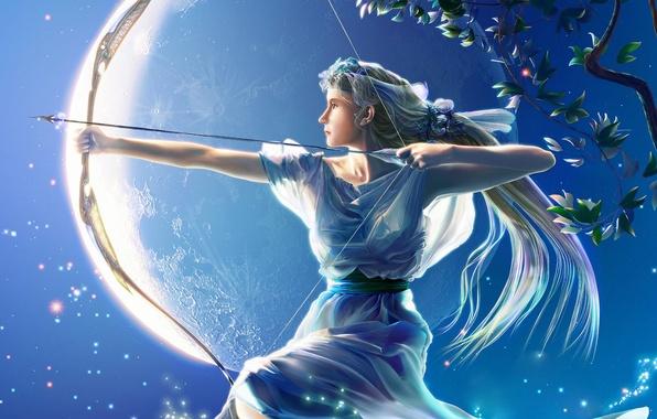 Photo Wallpaper The Moon Figure Bow Sagittarius