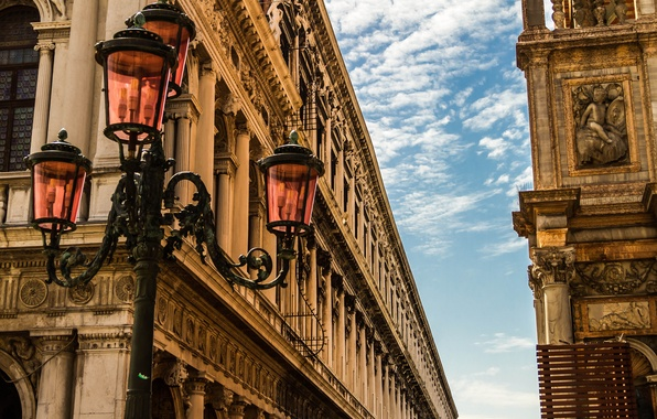 Picture the sky, building, home, Italy, lantern, Venice, architecture, Italy, Venice