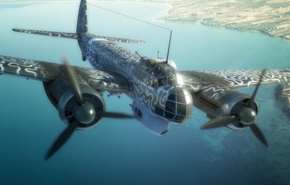 "Picture figure, art, WW2, Junkers Ju 88, ""workhorse"" Luftwaffe, Junkers Ju 88, multi-purpose aircraft"