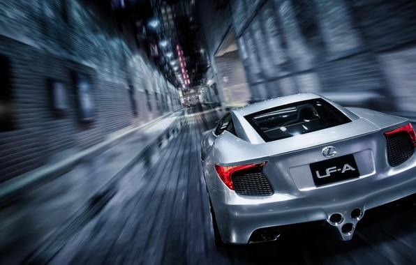 Picture Concept, Lexus, Speed, Lexus, Speed, Supercar, Supercar, Silver, LFA