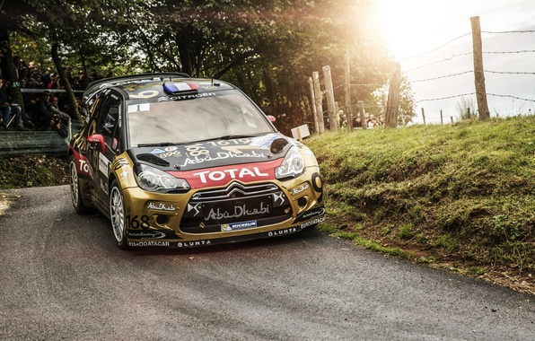 Picture Auto, Sport, Machine, Turn, Citroen, Day, Citroen, DS3, WRC, Rally, Rally, The front