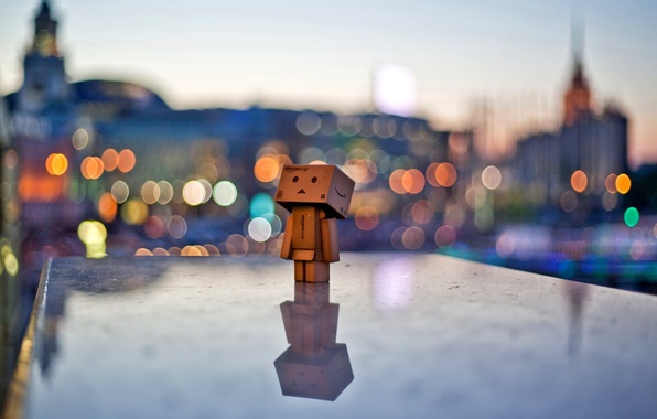 Picture the city, lights, mood, the evening, danbo, danbo
