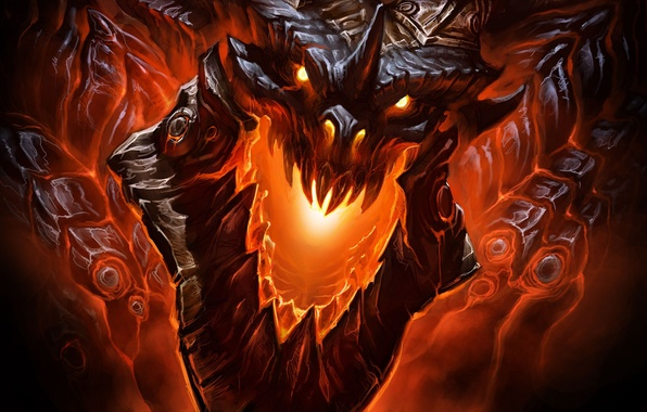Picture dragon, WoW, Deathwing, deathwing, dragon