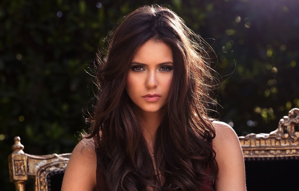 Picture look, girl, sweetheart, hair, brunette, beautiful, Nina Dobrev, Nina Dobrev, cutie, brown eyes, beautiful, women, …