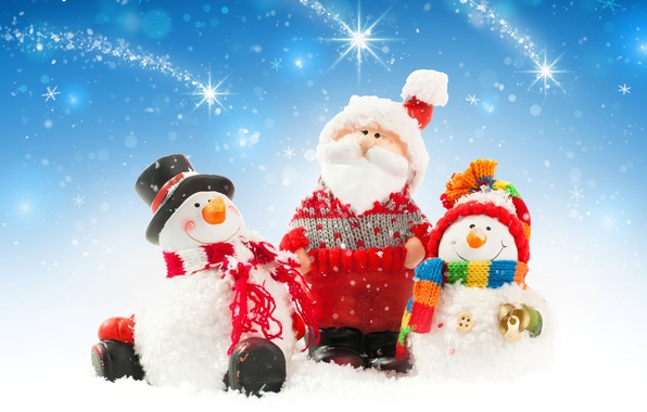 Picture snow, New Year, Christmas, snowman, christmas, new year, winter, snow, snowman