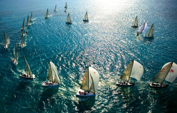 Picture SEA, The OCEAN, MAST, SAILS, YACHTS