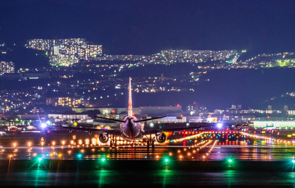 Picture Airplane, NightView, Itami Airport