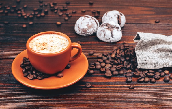 Picture coffee, food, grain, morning, blur, candy, Cup, cappuccino, table, background, dumb-dumb, morning, coffee, bokeh, coffee, …
