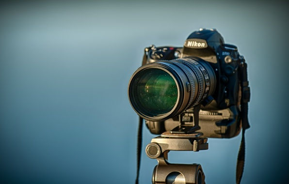 Picture background, the camera, Nikon