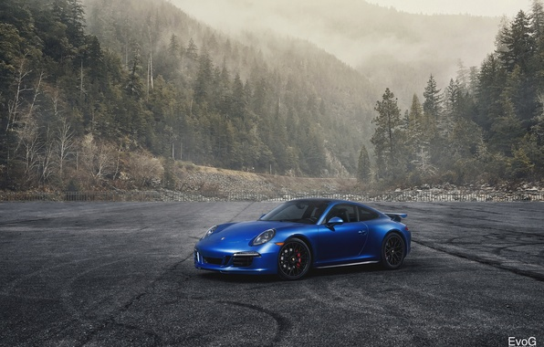 Picture car, 911, porsche, blue, gts, evoG photography