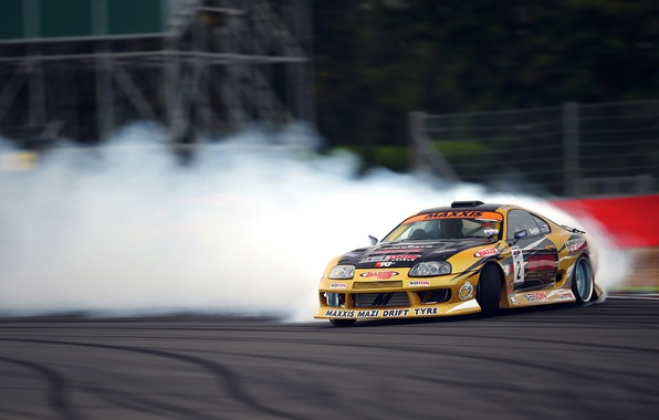 Picture Toyota, Drift, Supra, Smoke, Tuning, Competition, Sportcar