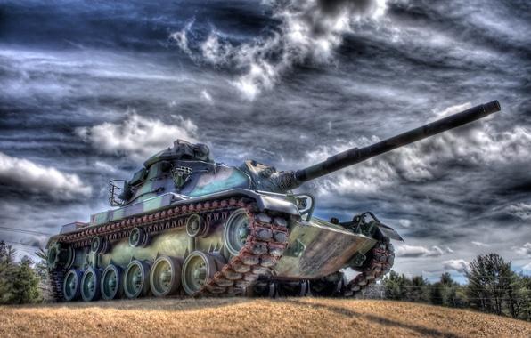 Picture the sky, tank, caterpillar