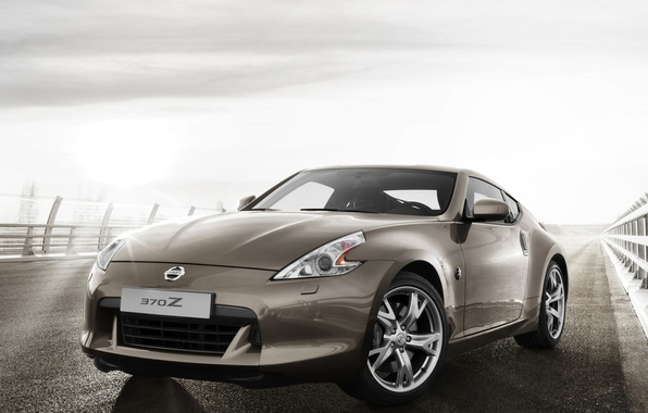 Picture Road, Machine, Nissan, Nissan, Car, Car, Brown, 370z, Road, Brown