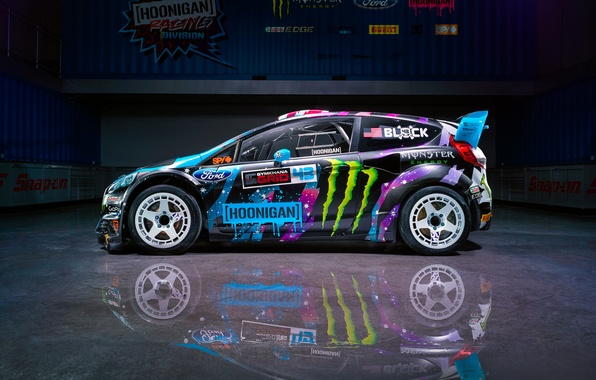 Picture Ford, Racing, Side, Block, Fiesta, Ken, Division, Hoonigan, 2015, RX43