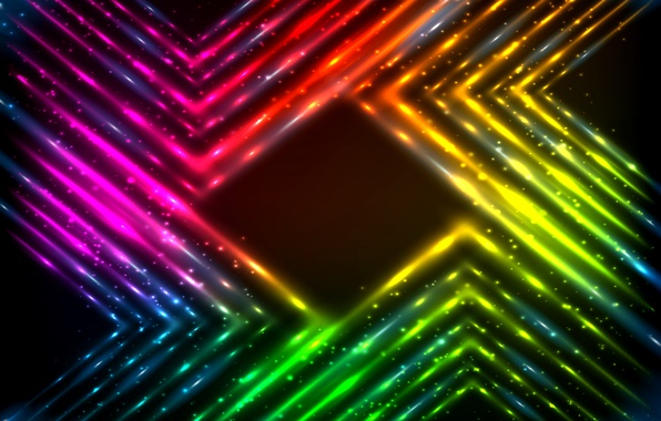 Picture lights, vector, colors, abstract, rainbow, background