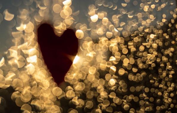 Picture macro, light, heart, heart, bokeh