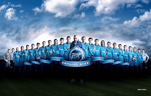 Picture football, team, stronger than all, Zenit