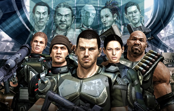 Picture sega, video game, characters, binary domain