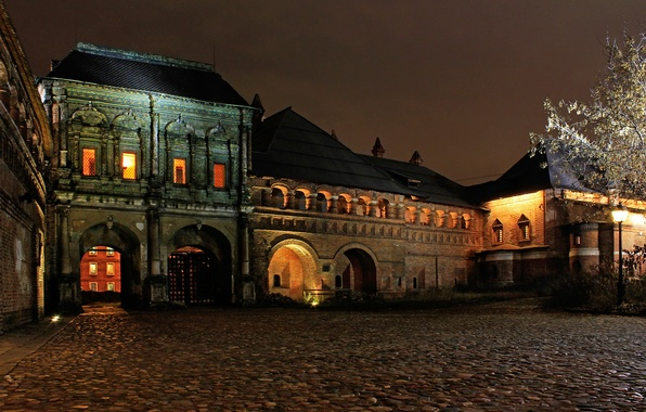 Picture night, the city, photo, street, Moscow, The Kremlin, Russia, Metropolitan chamber