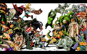 Picture Morrigan, Wolverine, X-Men, Logan, Resident Evil, Iron Man, captain america, venom, Colossus, cyclops, Spider-Man, Chun-Li, …