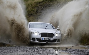 Picture squirt, Road, puddle, Dirt, Top Gear, Rally, Bentley Continental Gt Speed