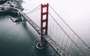 Wallpaper bridge, USA, the view from the top, San Francisco