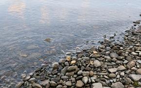 Picture water, pebbles, shore, Stones