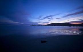 Picture sea, beach, sunset, the evening, pierce