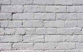 Wallpaper wall, white, pattern, brick