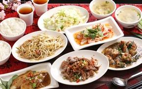 Picture fish, soup, figure, salad, seafood, Japanese cuisine, meals, cuts