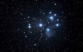 Picture The Pleiades, M45, star cluster, in the constellation of Taurus