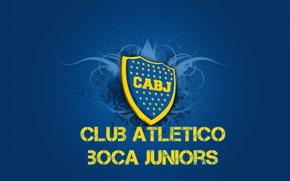 Picture wallpaper, sport, logo, football, Club Atletico Boca Juniors