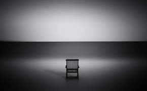 Picture light, shadow, chair