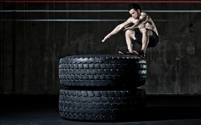 Picture men, workout, crossfit