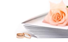 Picture rose, Engagement rings, wedding, envelopes