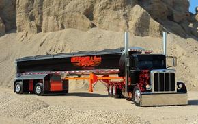 Picture custom, truck, peterbilt, semi, show