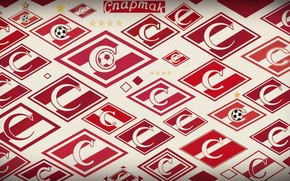 Picture strip, logo, Moscow, red-white, Moscow, Spartacus, Spartak, Spartakmoskva