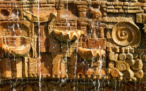 Picture water, surface, squirt, widescreen, Wallpaper, stone, texture, wallpaper, widescreen, background, relief, the Wallpapers, jet, full …