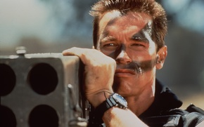 Picture the film, Wallpaper, terminator, action, Commando, Arnold Schwarzenegger, Commando, arnold schwarzenegger